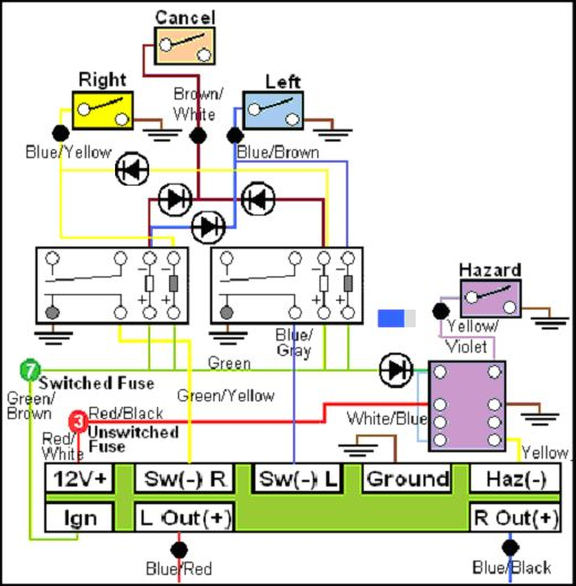 LED_flasher_relay_rev2 diy led flasher relay for k bikes led flasher relay wiring diagram at edmiracle.co