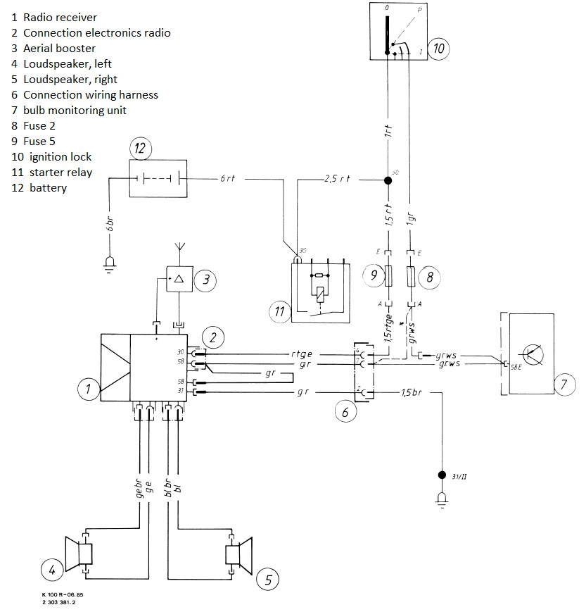 Ltrt Radio: BMW K100 Wiring Diagrams At Shintaries.co